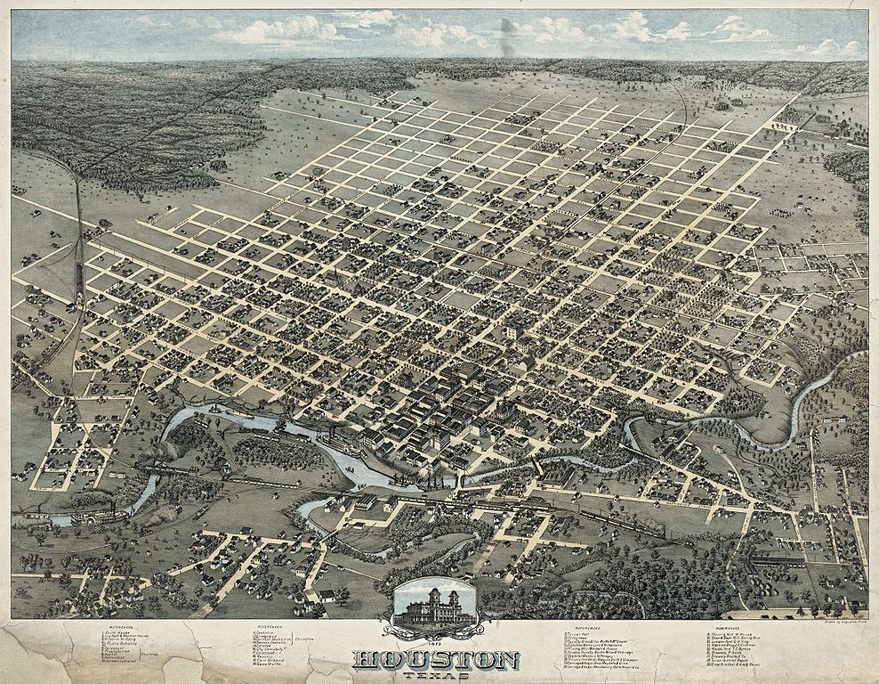 Houston Map - 1873