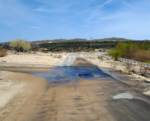 Damaged Road, Inland California