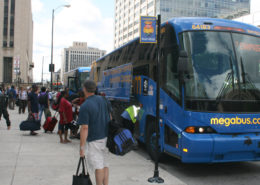 Megabus Stop in Chicago, photo credit: Jeramey Jannene via Flickr:
