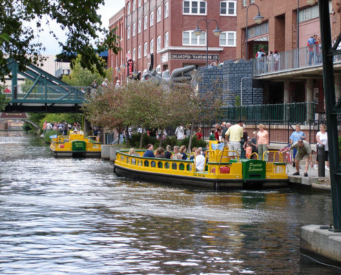 Bricktown Canal Water Taxis in Oklahoma City
