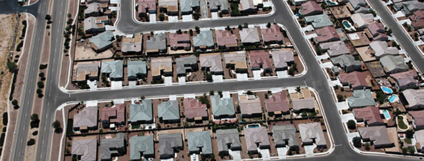 Aerial photo of California suburbs