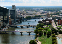 Aerial view of Grand Rapids, Michigan